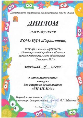 Городской интеллектуальный конкурс для дошкольников «Знай-ка!»